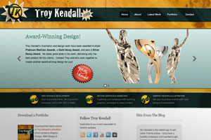 Troy Kendall Designs Website Development